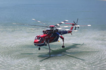 Erickson fights fires all over the world using the S-64 Aircrane