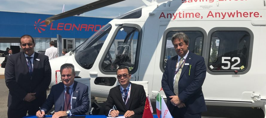 Leonardo signs 17 helicopter deal with Sino-US