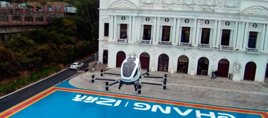 Ehang 184 drone takes manned test flights