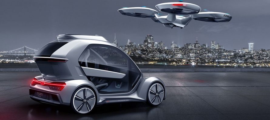 Italdesign and Airbus partner with Audi for car-and-drone concept